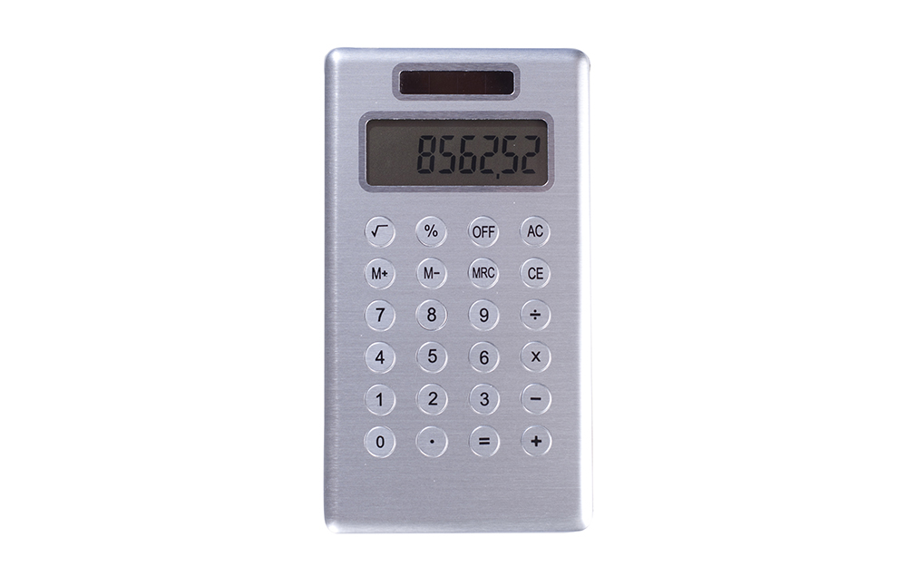 Metal Detectable solar powered calculator