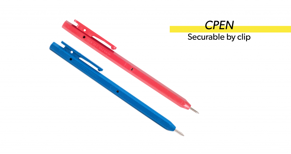 c pen. securable by clip