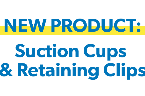 New Product: Metal Detectable Suction Cups and Retaining Clips